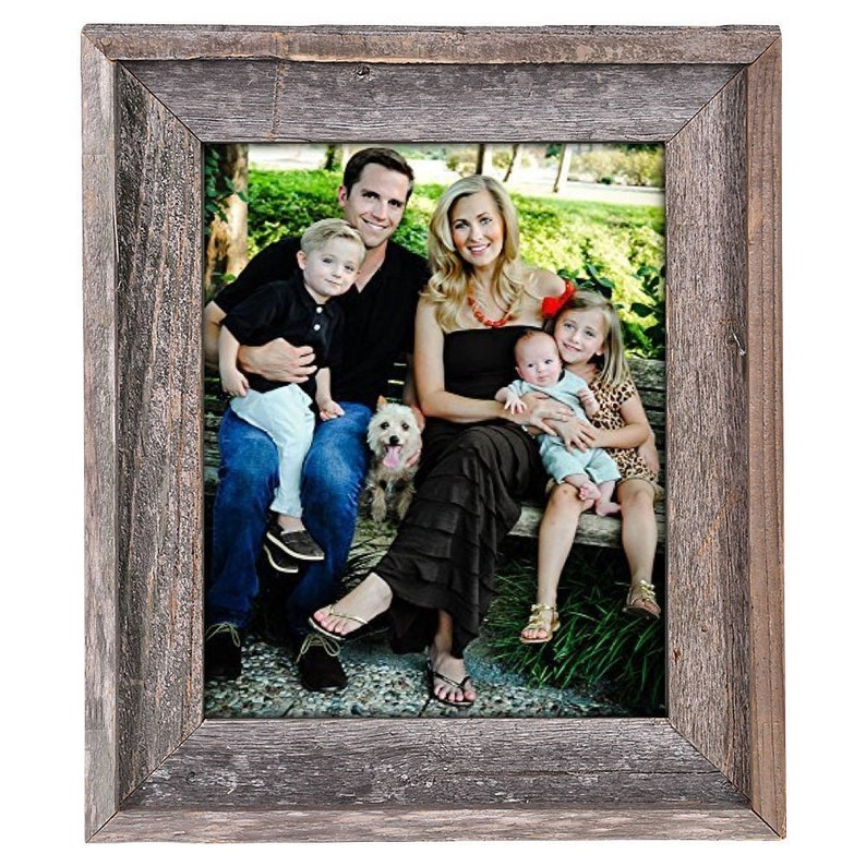 Rustic Wood Picture Frame Barnwood Picture Frame Reclaimed image 0