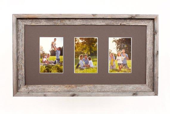 Barnwoodusa Multi Opening Mat With 100 Reclaimed Wood Frame Etsy