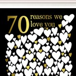 70th Birthday Party Decorations - 70th Birthday Gift, Guest Book, Gift for Mom, For Her, For Men, PRINTABLE 70 Reasons We Love You, DIGITAL
