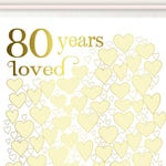 80 Years Loved - 80 Year Old Birthday, 80th Birthday Decor, 80th Birthday Poster, Sign, PRINTABLE Party Decoration, 80th Birthday Gift Her