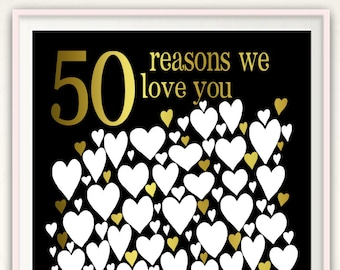 50th Birthday Gift For Women Poster