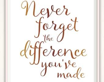 Never Forget Nurse Retirement Gift - Doctor Retirement Gift, Retirement Party Sign Print, Retirement Firefiighter Women, Principal, Pastor