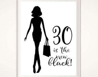 30th Birthday Gift For Her Print PRINTABLE 30