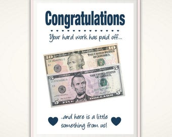 Graduation Gift PRINTABLE Congratulations Gifts For Graduates College Student Money Her Him