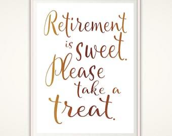 Retirement Is Sweet Etsy