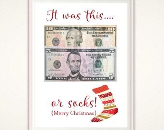 Christmas Money Gift Holder