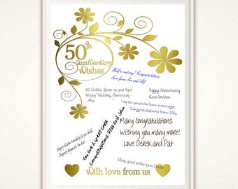 50th anniversary marriage invitation 50th anniversary gifts 50th anniversary print 50th anniversary gifts for parents wedding anniversary poster golden anniversary gift ideas parents printable stopboris Images