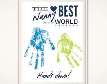 Nanny Gift - Nanny Personalized Gift, Gifts for Nanny, Nanny Print, Gift from Kids, Birthday Gift, Mothers Day Gift, INSTANT Download DIY