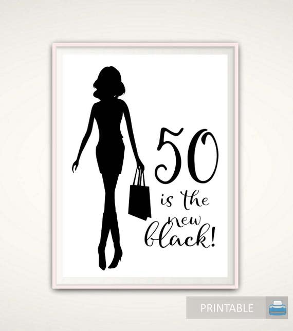 50th Birthday Gift For Women PRINTABLE