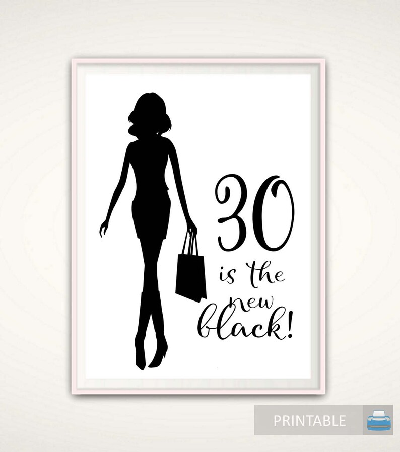 30th Birthday PRINTABLE Gift For Women