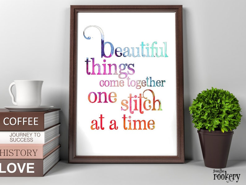 Gifts for Sewers Craft Room Decor Beautiful Things Sewing image 0