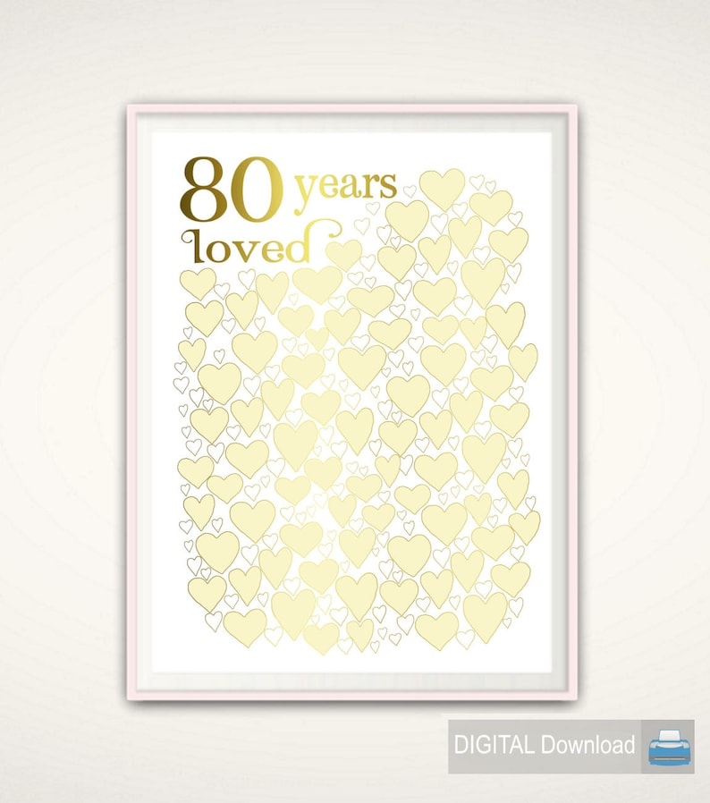 80 Years Loved Year Old Birthday 80th Decor