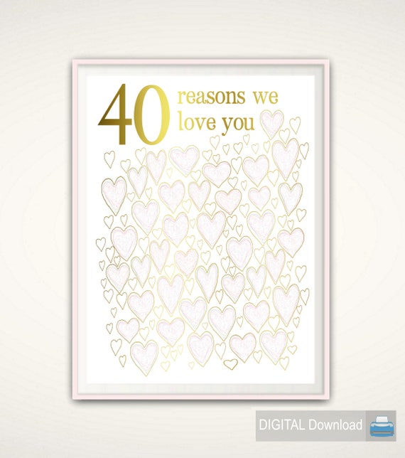 What Is The 40th Wedding Anniversary Gift: 40th Wedding Anniversary Gift 40th Anniversary Gift For
