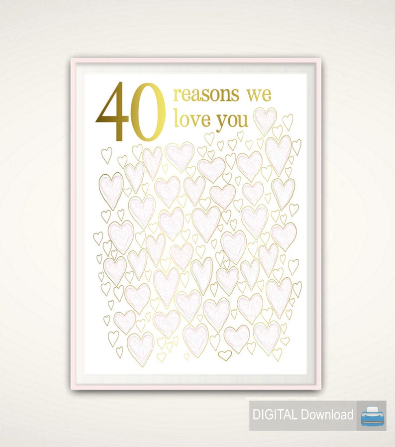 40th Wedding Anniversary Gift 40th Anniversary Gift For Etsy
