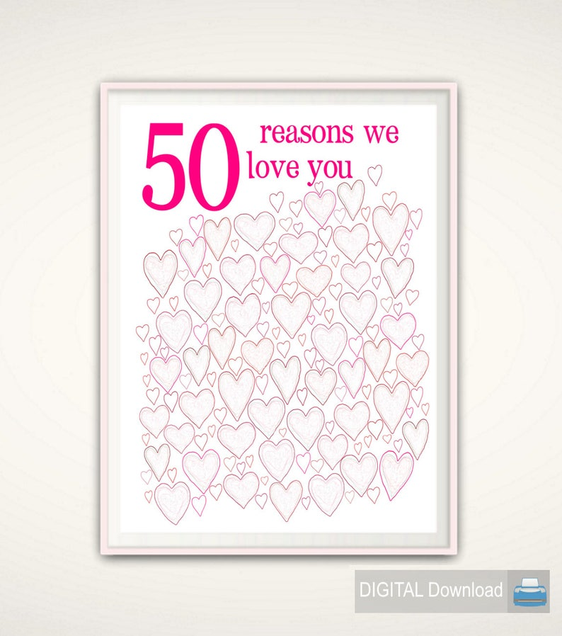 50th Birthday Gift for Women  50th Birthday Poster image 0