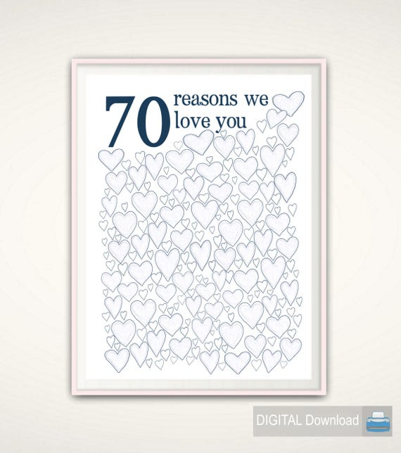 70th Birthday Gift For Dad Poster Sign Party