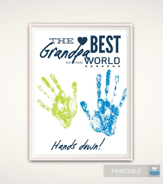 Grandpa Gifts Christmas Grandpa Gift From Grandkids Printable Handprint Art Gift For Grandpa Diy Handprint Art Grandad Birthday Gift