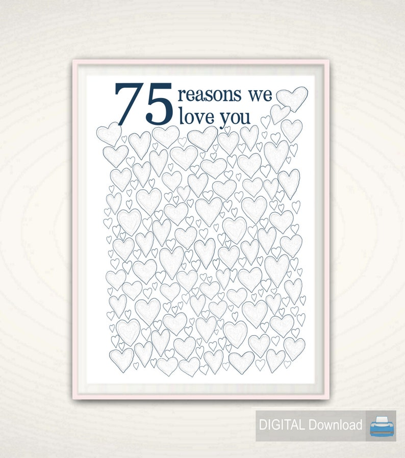 75th Birthday Gift For Dad Poster Men
