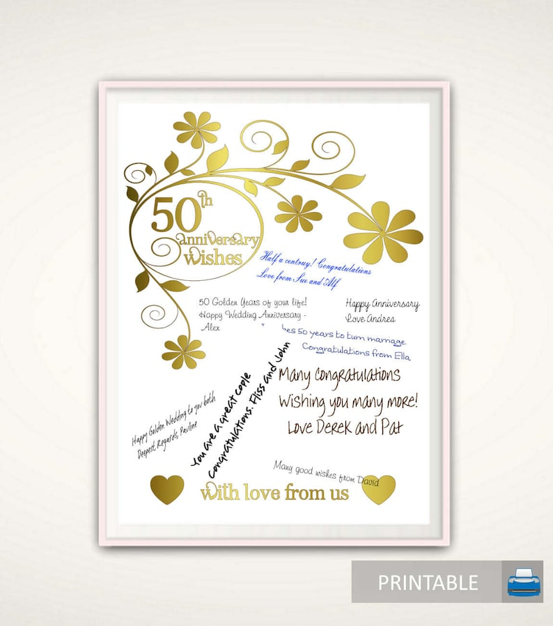 ae49ab5828f27 50th Anniversary Print 50th Anniversary Gifts for Parents