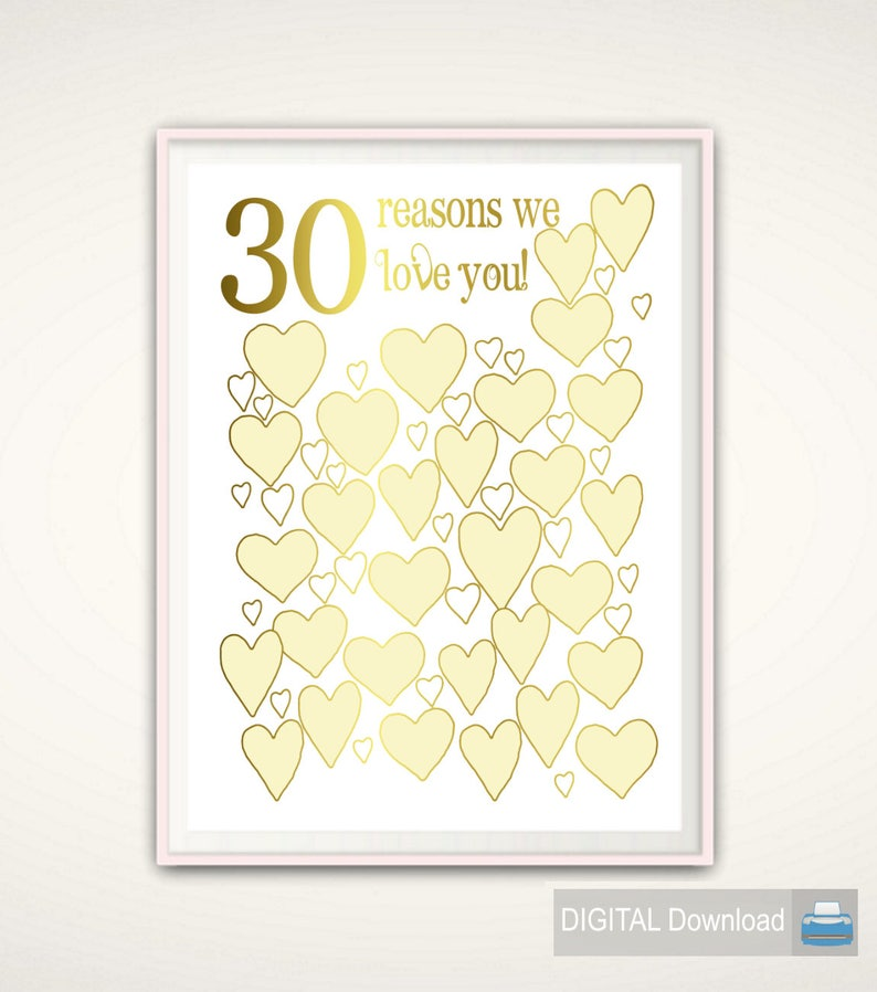 30th Birthday Gift For Him Her Sister Brother