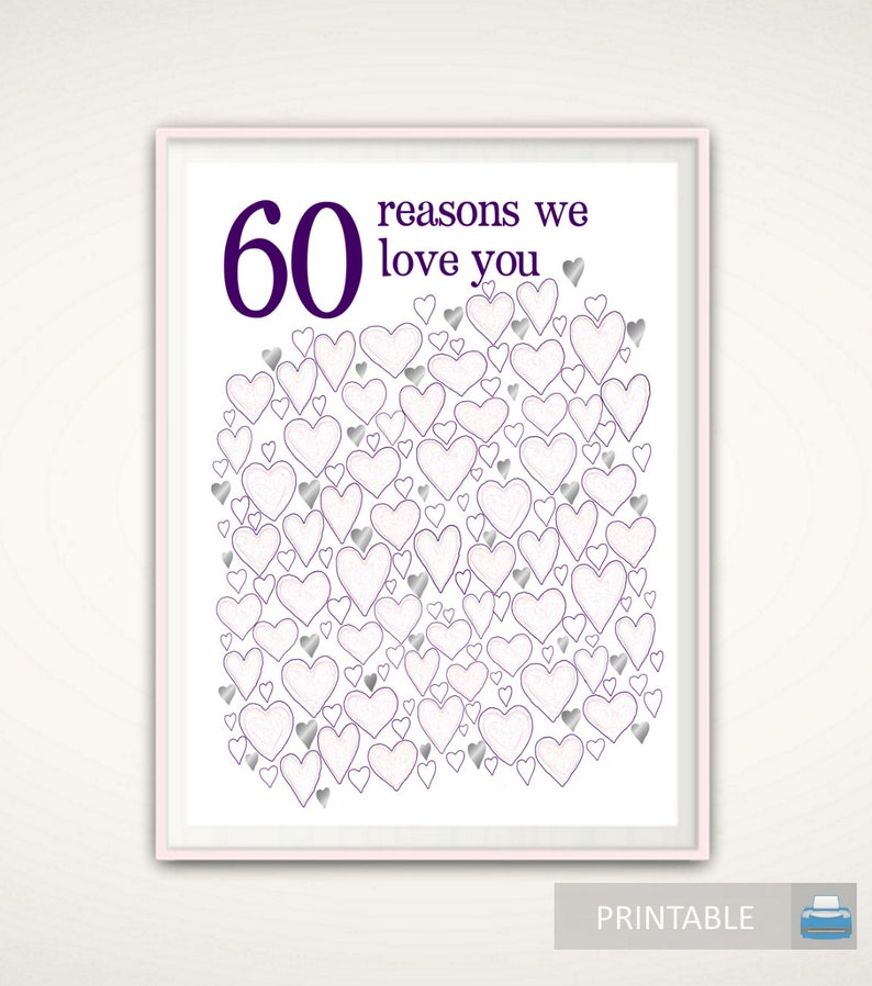 60th Birthday Poster Party Decorations Gift