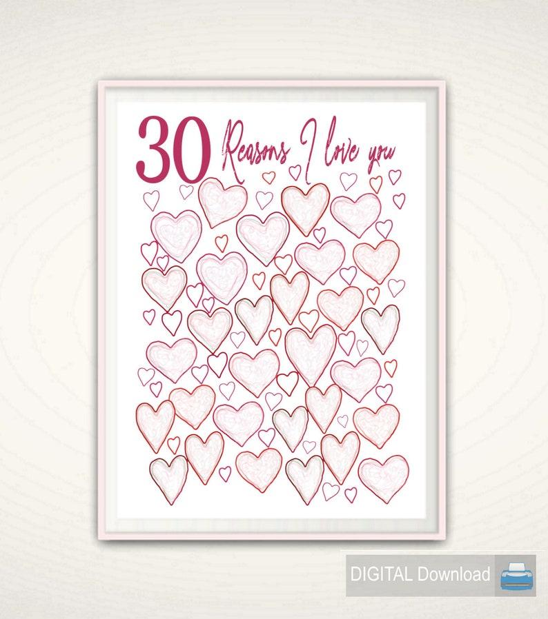 30th Birthday Print Unique Gift Idea