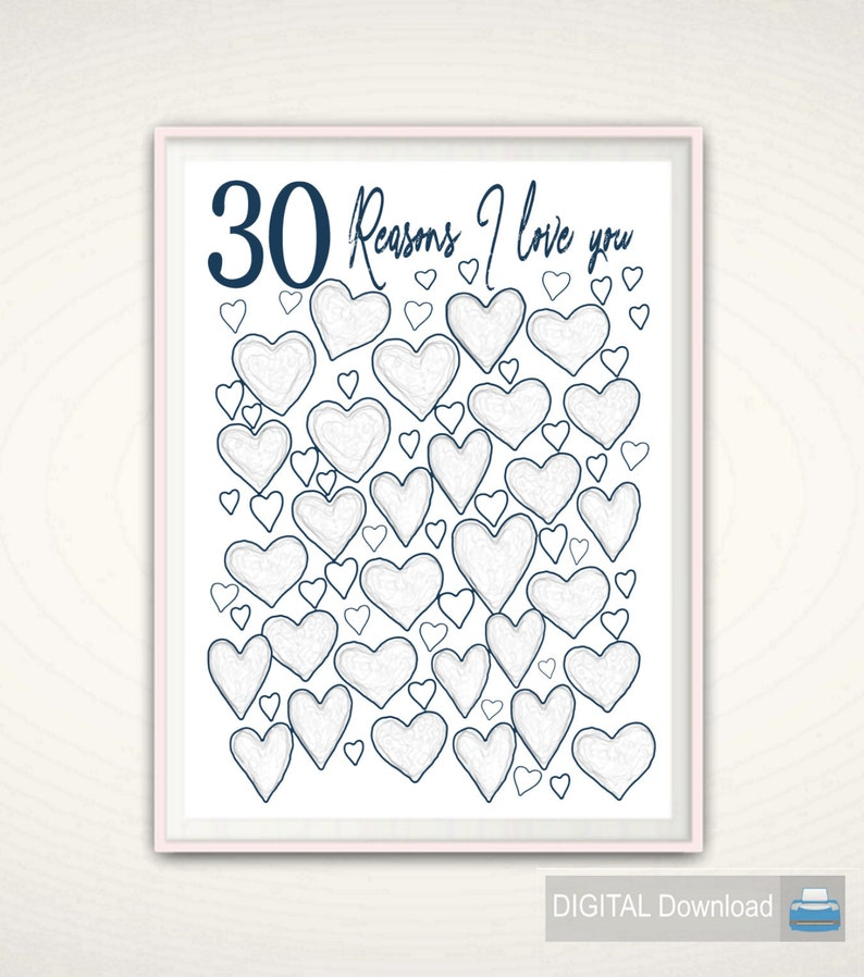 30th Birthday Print Unique Gift Idea