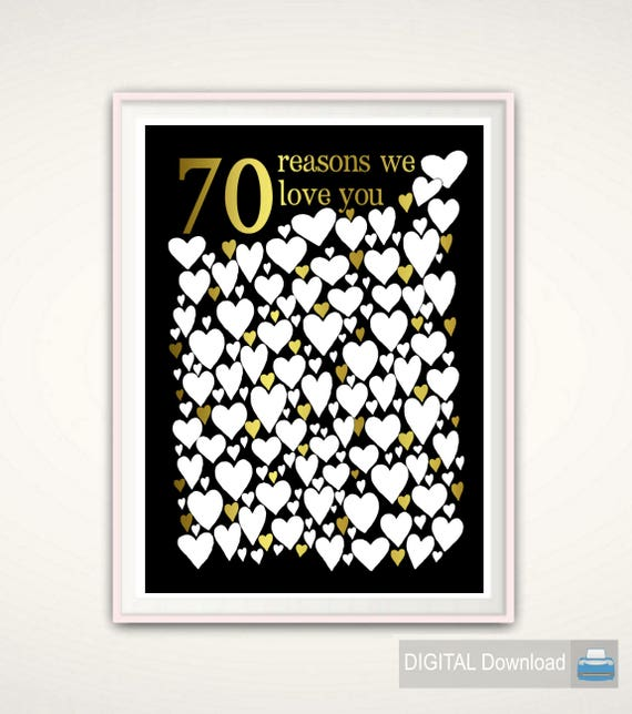 70th Birthday Party Decorations Gift Guest