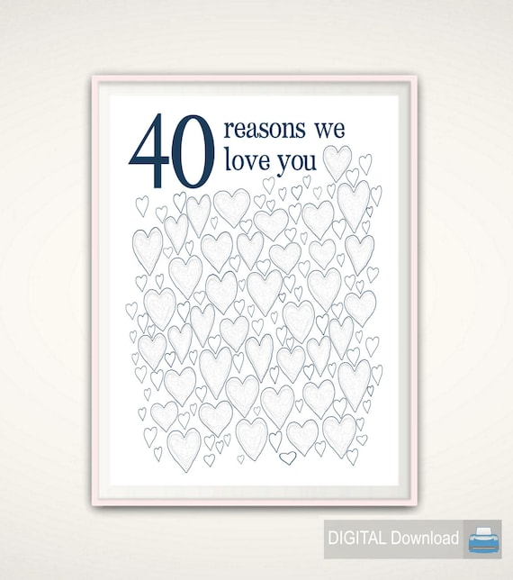 40th birthday gift for man 40th birthday gifts for husband etsy