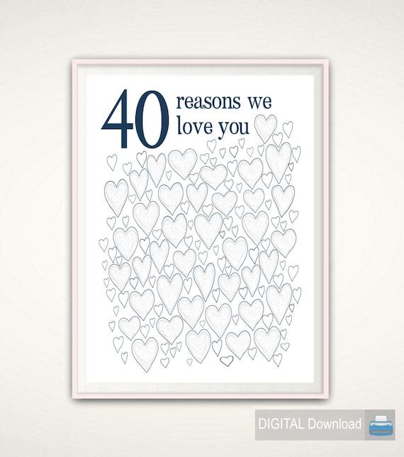 40th Birthday Gift For Man
