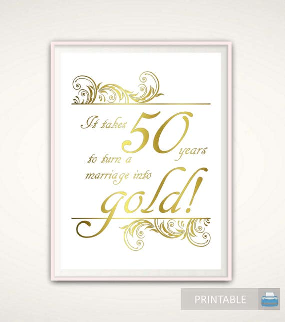 Golden Wedding Anniversary Gift Ideas For Parents: 50th Anniversary Gifts For Parents 50th Anniversary Print