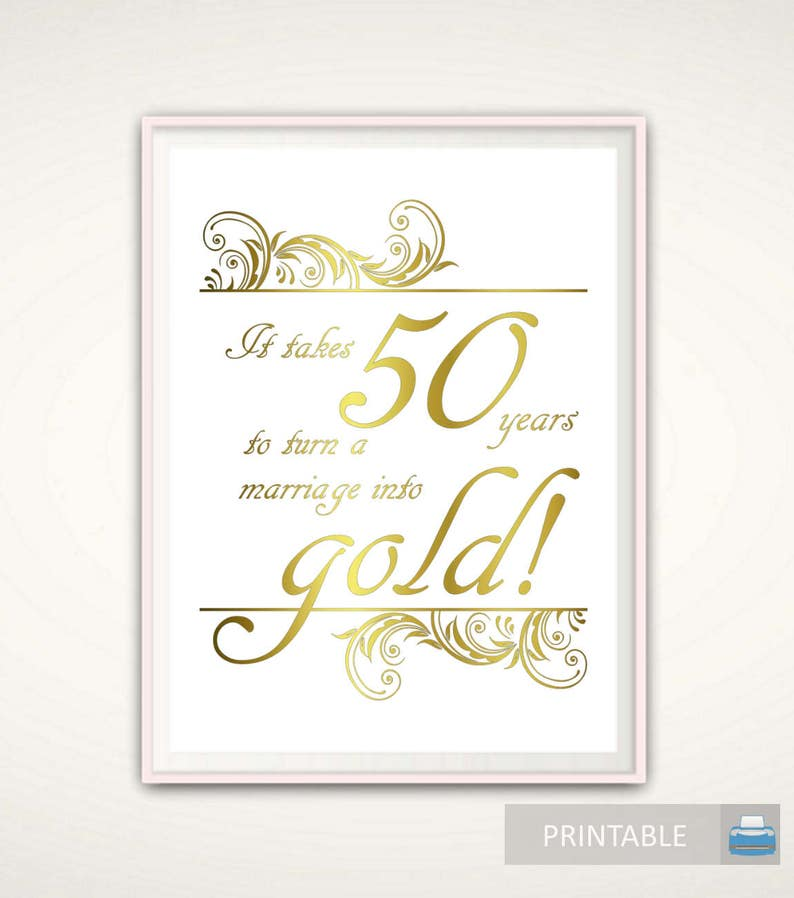 7f994ed1d21a4 50th Anniversary Gifts for Parents 50th Anniversary Print