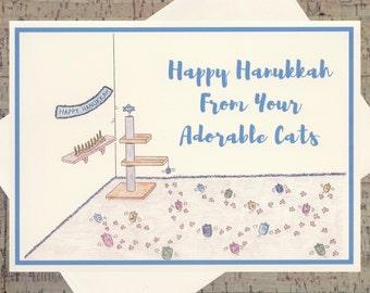 image regarding Free Printable Hanukkah Cards referred to as Hanukkah Playing cards Etsy
