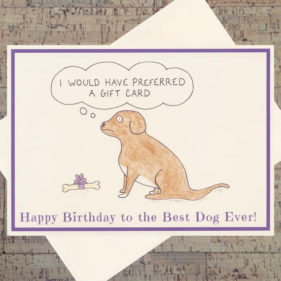 Dog Birthday Card Funny