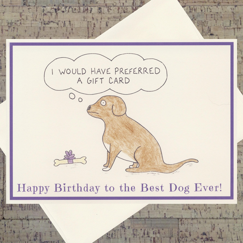Dog Birthday Card Funny Lover Puppy Pet