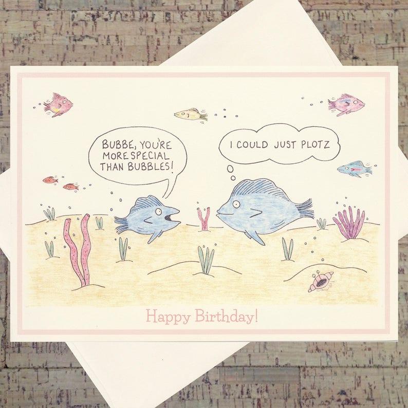 Birthday Card For Grandmom Grandma Jewish Mother