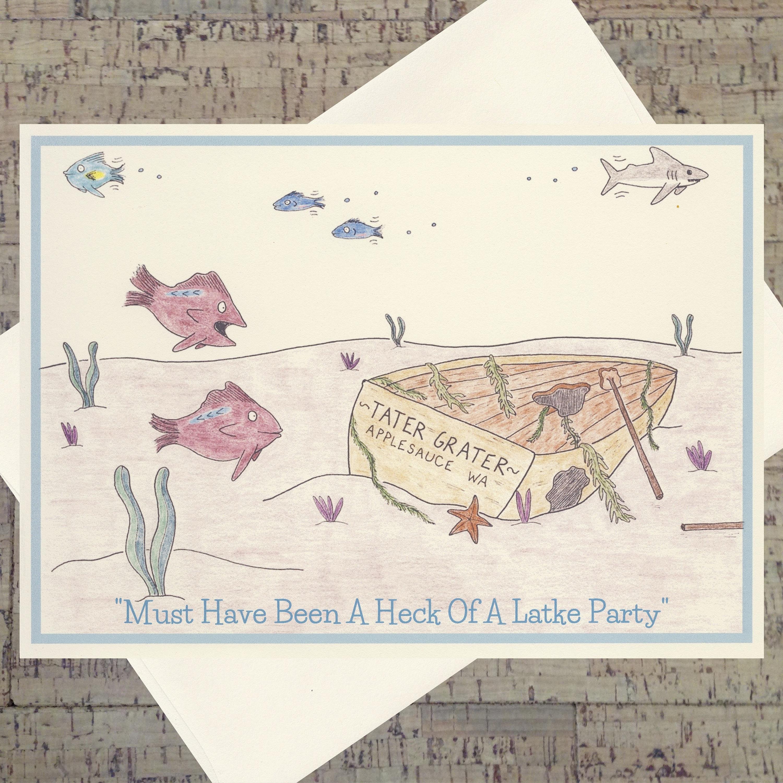 Judaica Hanukkah Card Hanukkah Funny Hanukkah Card Holiday Etsy