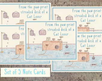 Note Card Set, Cat Gifts, Cat Stationery, Stationery Set, Notecard Set, Personal Stationery, Cat Lover, Cat Lover Gifts, Stationery Gift