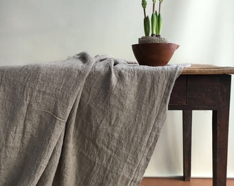 Rustic Linen Tablecloth, Thick Large Rectangle Tablecloth, Basket Weave  Linen, Square Tablecloth, Brocante Tablecloth, Country, Outdoor
