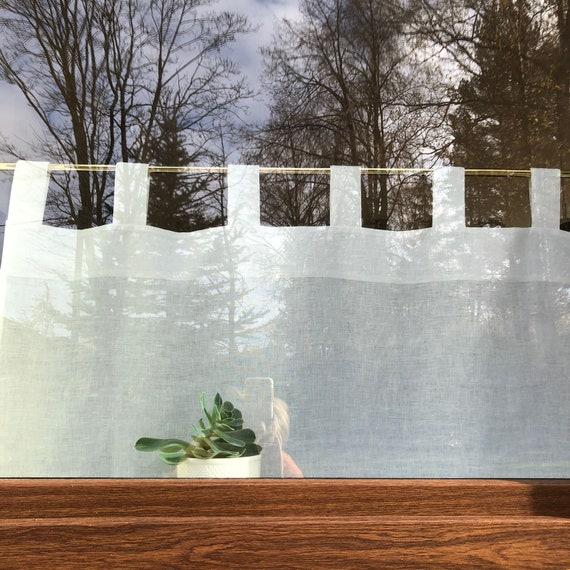 Leinen Cafe Vorhang Weissen Leinen Vorhang Panel Leinen Etsy