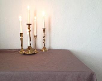 Brown Linen tablecloth, brown tablecloth, linen table cloth Rectangle Tablecloth Square tablecloth Extra large tablecloth, oval tablecloth