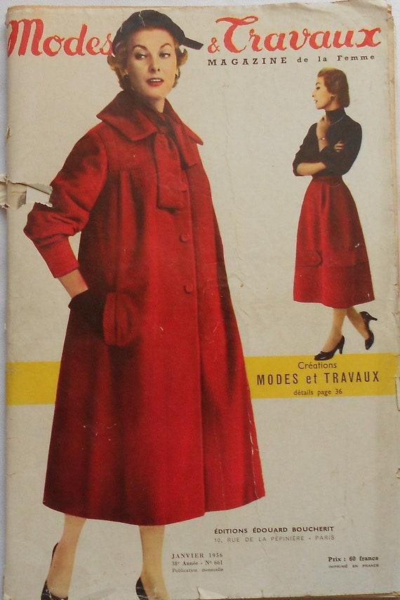 d5cd8f0ba90ea0 Vintage 50er Jahre Französisch Fashion Style Magazin Modi et | Etsy