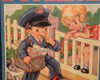 Ruth E. Newton Little Postmen Book 1930's Rare Children's Book Hardcover