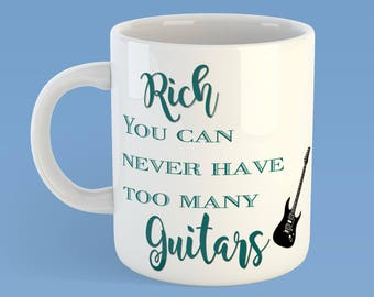 You can't have too many Guitars, You can't have too many Shoes, Guitar lover's gift, Shoe lover's gift, Rock & Roll gift, Father's day gift