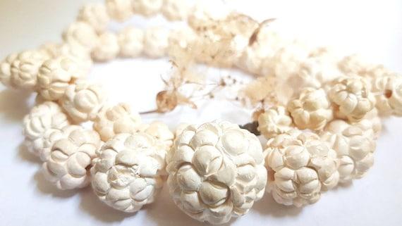 Necklace and earnings made by meerschaum meerschaum jewelry set
