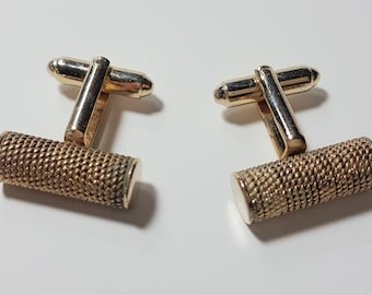 Vintage DANTE Cuff-links Gold Tone Metal/1960's/ Men's Jewelry/Vintage Jewelry