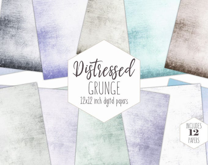 VINTAGE AGED Digital Paper Pack Distressed Grunge Backgrounds Pastel Scrapbook Papers Victorian Patterns Printable textures Commercial Use