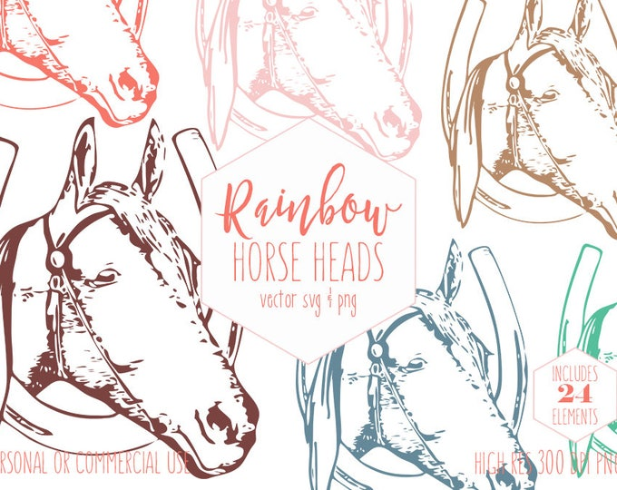 LUCKY HORSE CLIPART for Commercial Use Rustic Farm Clip Art Horseshoe Barn Farm Animal Images Horse Shoe Equestrian Vector Digital Graphics
