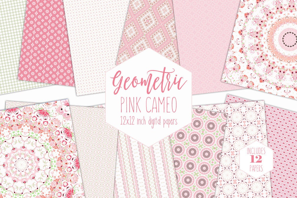 Wondrous Blush Pink Digital Paper Pack Baby Girl Backgrounds Beutiful Home Inspiration Xortanetmahrainfo