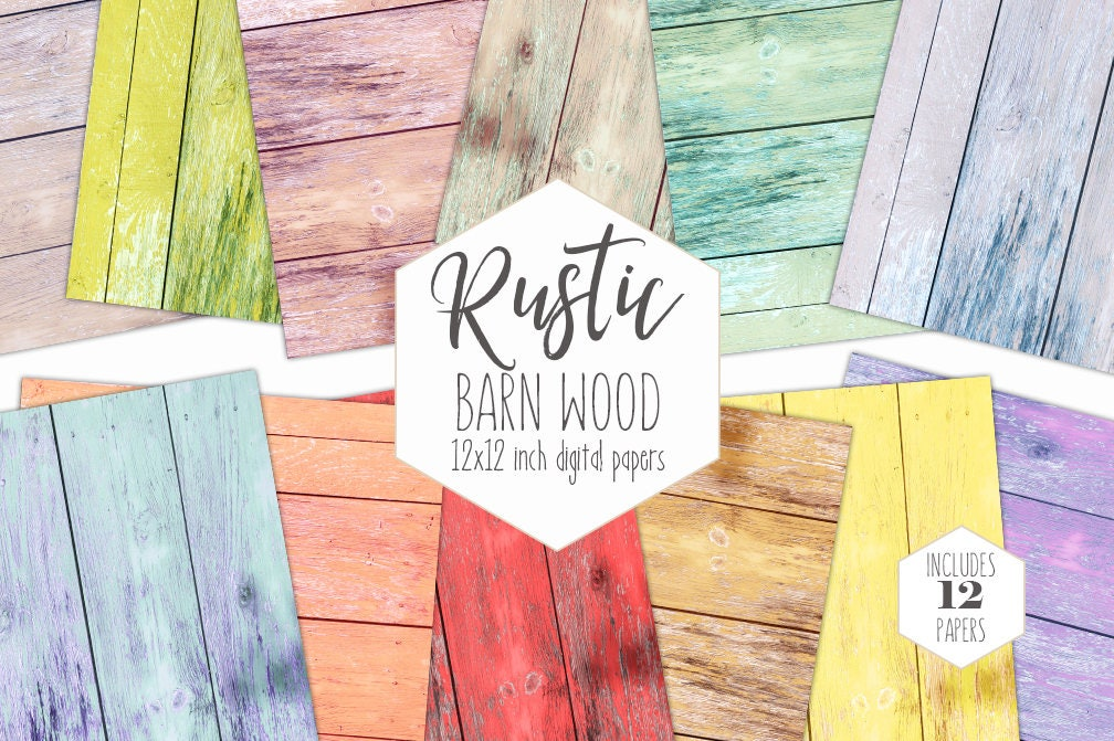Shabby Chic Wood Digital Paper Pack Chipped Painted Wood Backgrounds Wood Board Scrapbook Paper Wood Grain Printable Textures Pastel Clipart